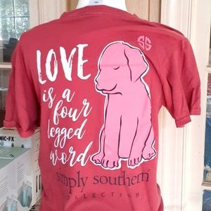 Simply Southern love is a four-legged word small